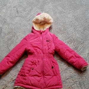 DKNY pink winter coat